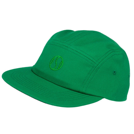 Post Details 5 Panel Tennis Anyone Hat Green
