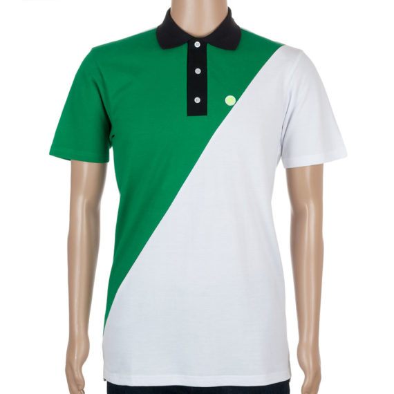 Post Details Polo Shirt Tennis Anyone Two-Tone White Green