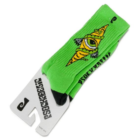 Psockadelic Bohemian Eye Socks Green