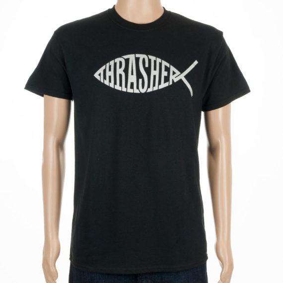 Thrasher Magazine Fish T-Shirt Black