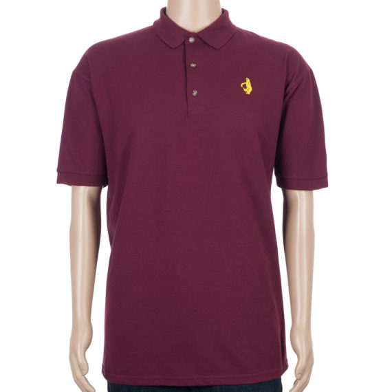 Krooked Polo Shirt Shmolo Maroon
