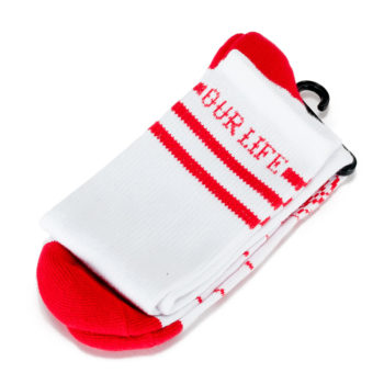 Our Life Socks White Red