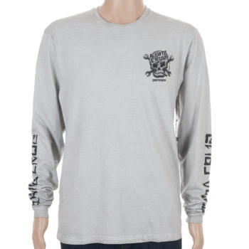 Santa Cruz Dressen Skull Long Sleeve T-Shirt Carbon White