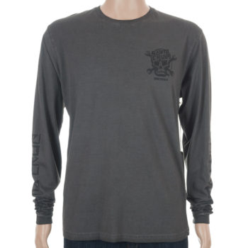 Santa Cruz Dressen Skull Long Sleeve T-Shirt Carbon Black