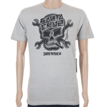 Santa Cruz Dressen Skull T-Shirt Carbon White