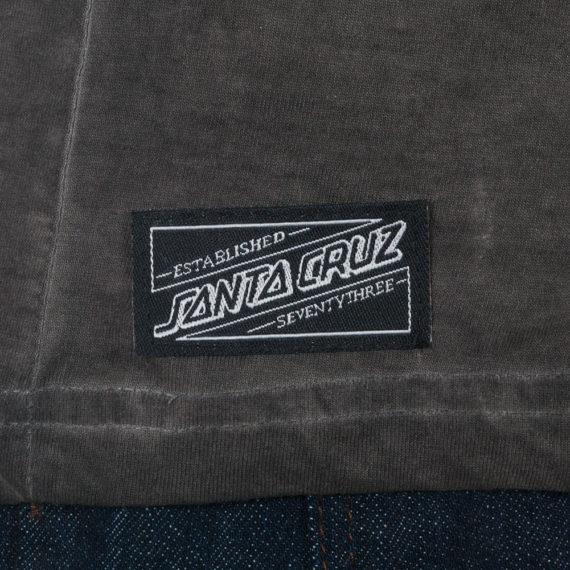 Santa Cruz F U Hand Outline T-Shirt Carbon Black