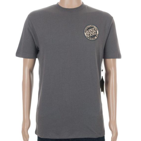 Santa Cruz Vato Reaper T-Shirt Charcoal