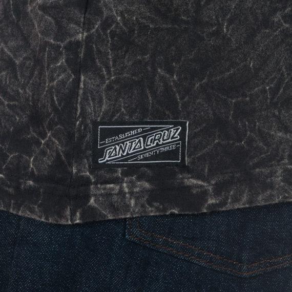 Santa Cruz Vintage Praying Hands T-Shirt Bleach Black