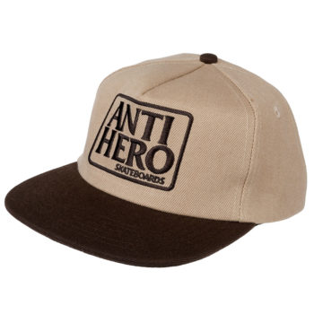 Anti Hero Eagle Unstructured 6 Panel Snapback Cap Brown
