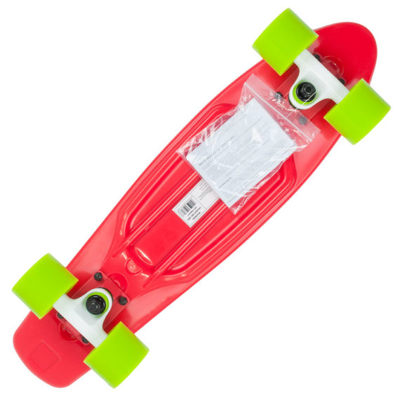 D-Street 3rd Generation Polyprop Cruiser Complete Red