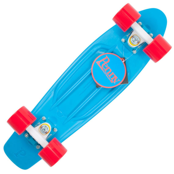"""Penny Cruisers Complete Set Up 22"""" Cyan Red"""