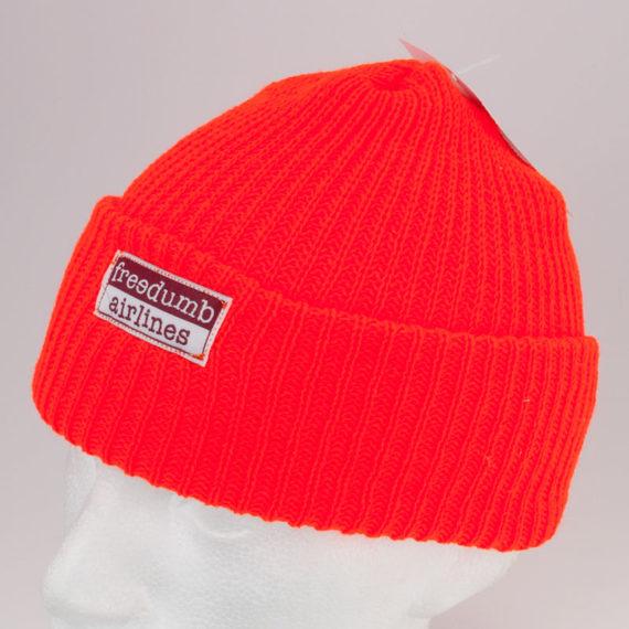 Freedumb Airlines Cuff Beanie Orange