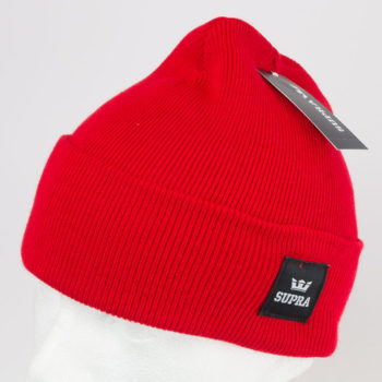 Supra Watts Cuff Beanie Hat Red