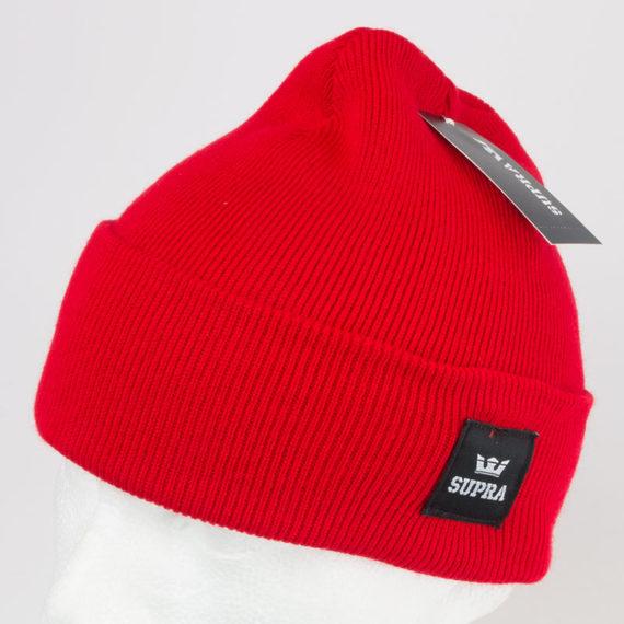 Supra Watts Cuff Beanie Hat Red