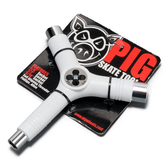 Pig Wheels Tri Socket Skate Tool White