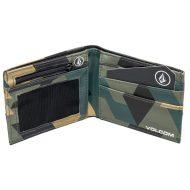Volcom Quick Stash Wallet Camo Old Blackboard