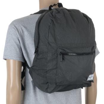 Herschel Packable Daypack Backpack Black Reflective