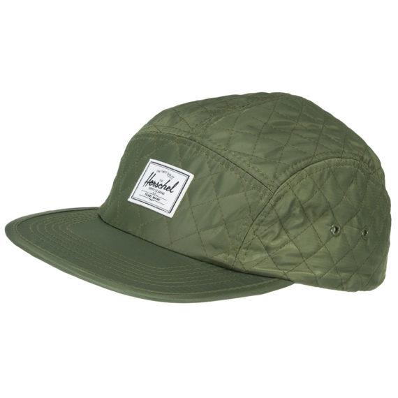 Herschel Glendale 5 Panel Hat Quilted Green