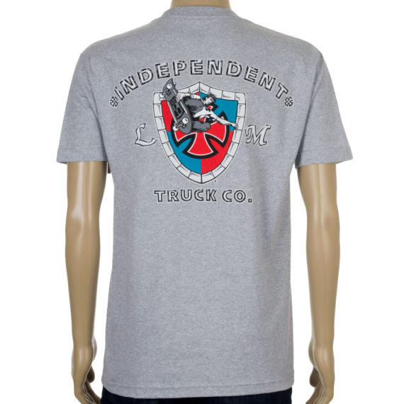 Independent Lance Mountain Shield T-Shirt Grey