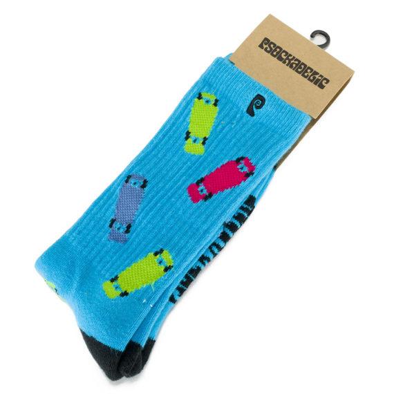 Psockadelic Skateboard Socks Blue