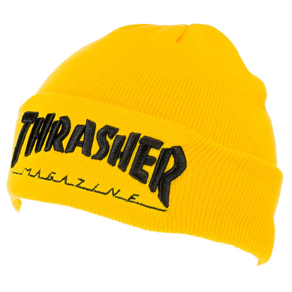 Thrasher magazine beanie embroidered logo yellow skate pharm jpg 1001x1001 Thrasher  yellow beanie 7362e500dff