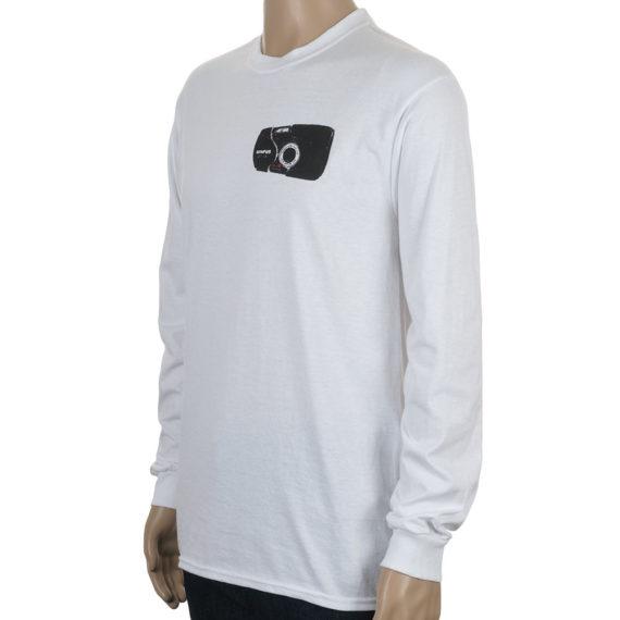 North Magazine Camera Long Sleeve T-Shirt White