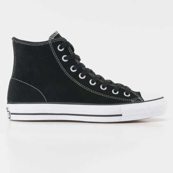 Converse CTAS Pro Hi Shoes Suede Black White