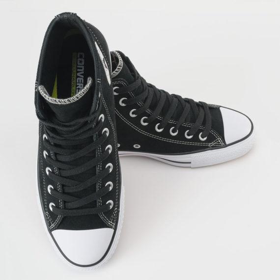 Converse Ctas Pro Hi Shoes Black White Suede
