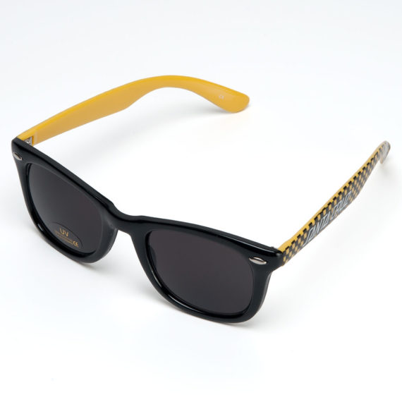 Santa Cruz Check Strip Sunglasses Yellow Black