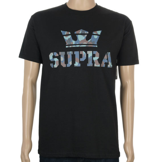 Supra Above T-Shirt Blue Camo Black Supra_Tee-Above-BMU-Regular-Black-1