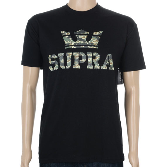 Supra Above T-Shirt Green Camo Black