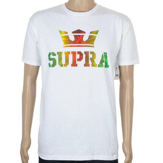 Supra Above T-Shirt White Rasta
