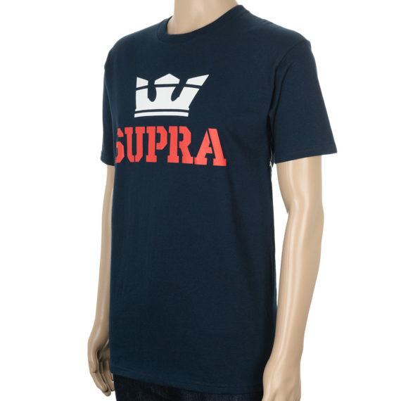 Supra Above T-Shirt Navy Red White