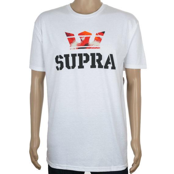 Supra Above T-Shirt White Red