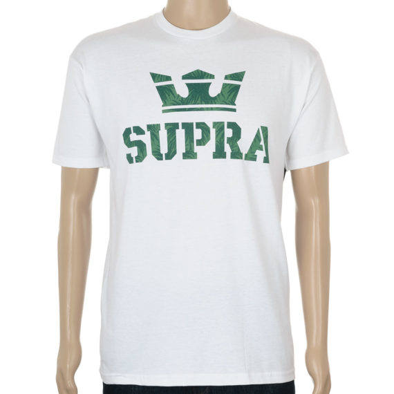 Supra Above T-Shirt White Palm