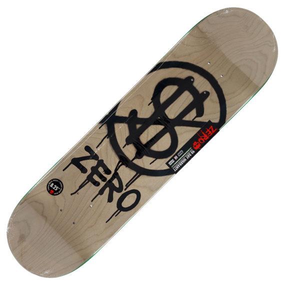 """Zero Skateboards Hardluck Deck 8.25"""" Grey"""