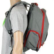 Sushi Skateboard Carrier Backpack Grey Red