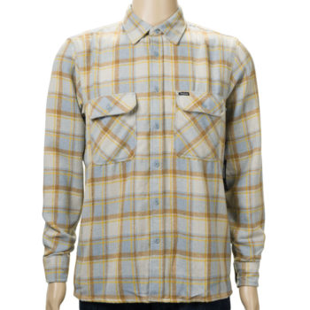 Brixton Archie Long Sleeve Flannel Shirt Heather Grey