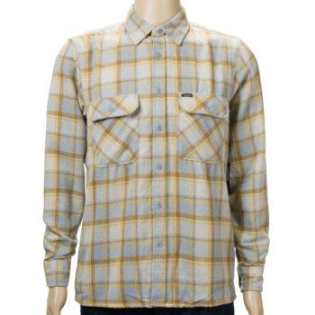 Brixton Archie Long Sleeve Flannel Shirt Heather Grey