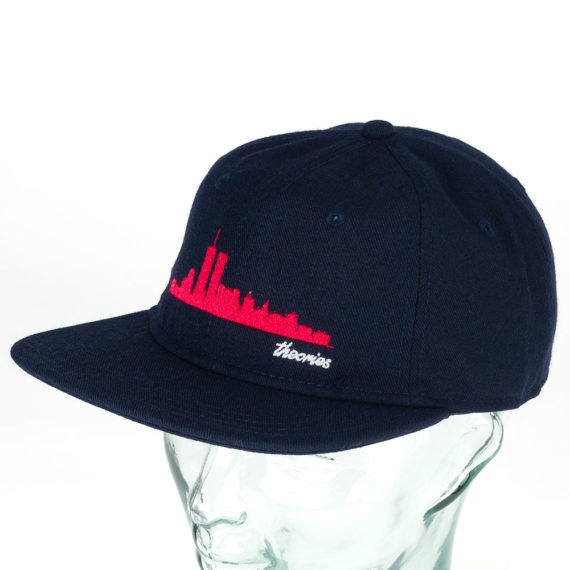 Theories Big Apple Snapback Hat Navy