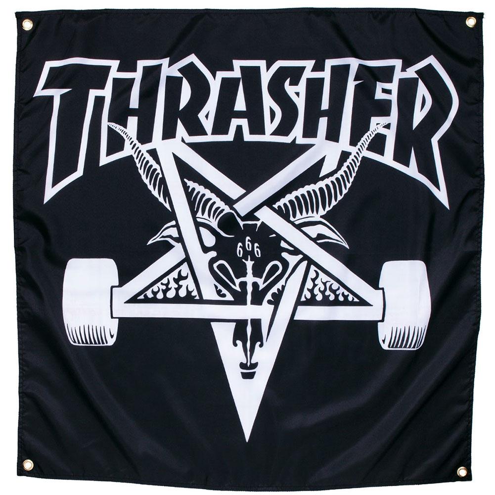 Thrasher Magazine Skategoat Banner Black at Skate Pharm