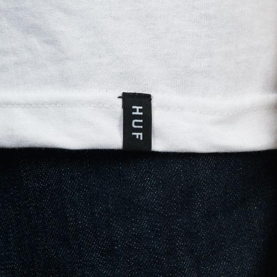 Huf Bar Logo T-Shirt White Pink