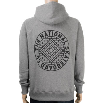National Skateboard Co Division Hoodie Grey
