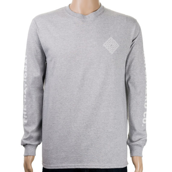 National Skateboard Co Corp Long Sleeve T-shirt Grey