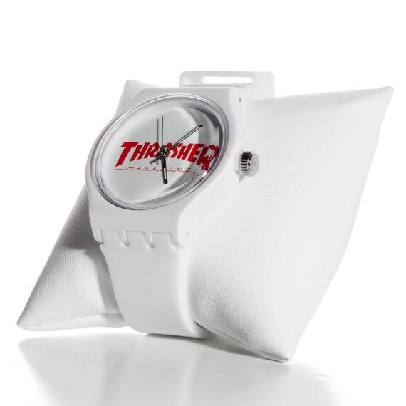 Thrasher Logo Watch White Red