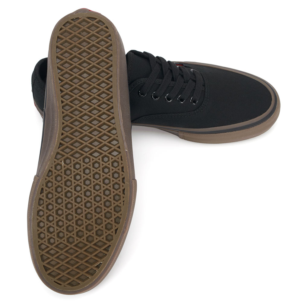 vans authentic pro shoes black gum available at skate pharm