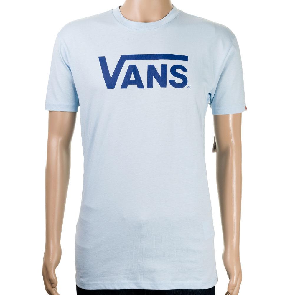 vans classic logo tshirt light blue at skate pharm