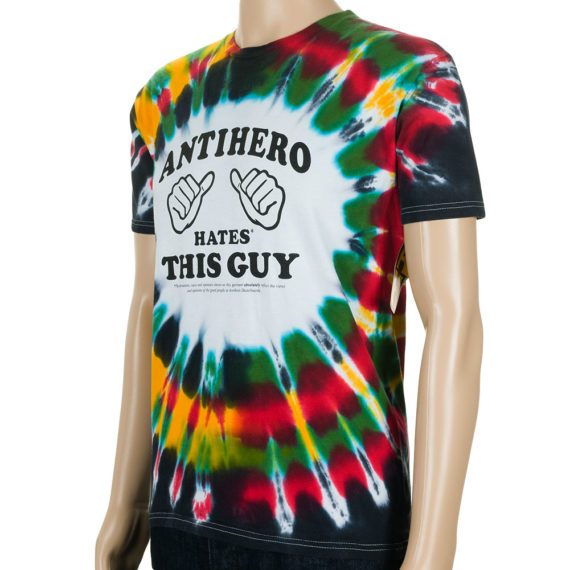 Anti Hero Hates This Guy T-Shirt Rasta Tie Dye