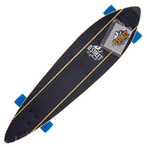 D-Street Pinstripe Pintail Long Board 42.0″