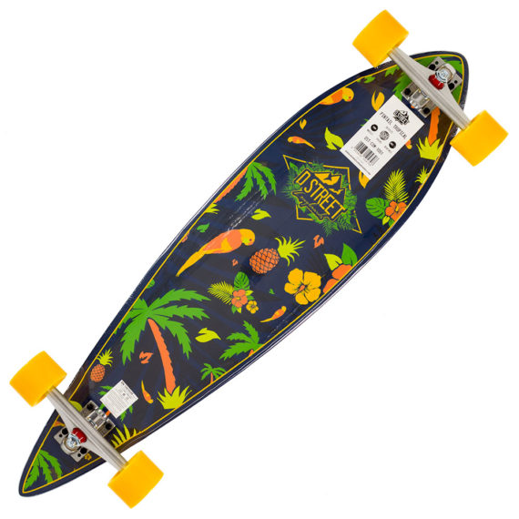D-Street Tropical Pintail Long Board 38.0""